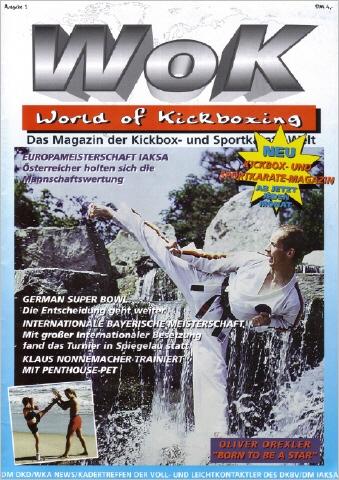 Oliver Drexler auf dem Cover von World of Kickboxing